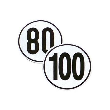 Nálepka rýchlosť 80