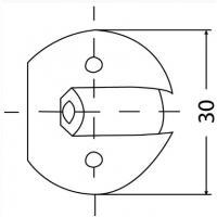 Nábytková spojka PVC