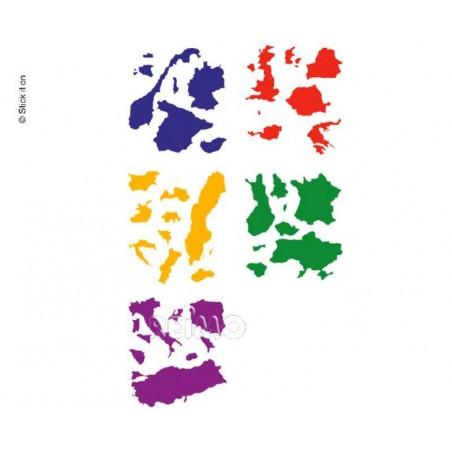 Nalepovacia mapa Európy