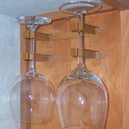 Nástenný držiak na 2 poháre