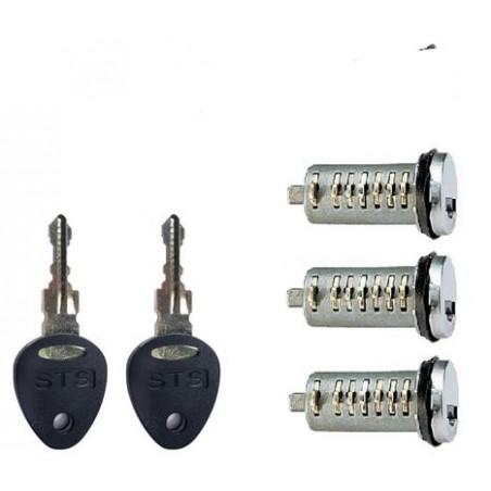 STS zámok - 3 ks + 2 ks kľúčov
