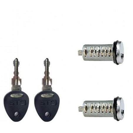 STS zámok - 2 ks + 2 ks kľúčov
