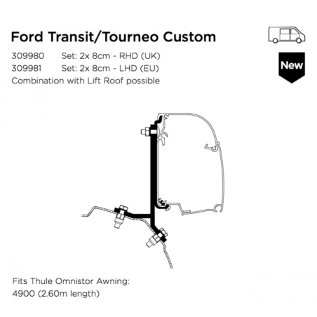 THULE OMNISTOR 4900 FORD...