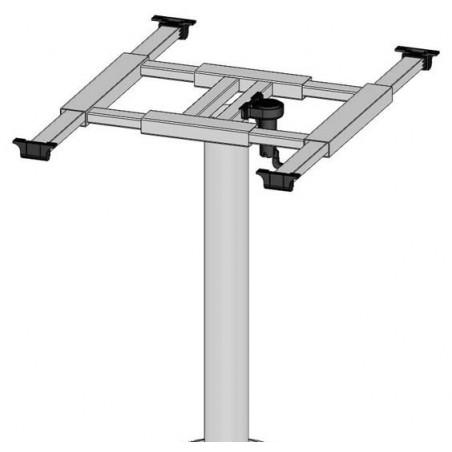 Otočná noha stolu s plošinou